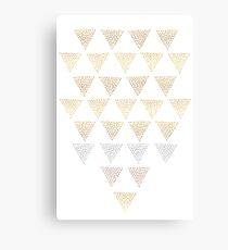 Geometric Sunrise Canvas Print