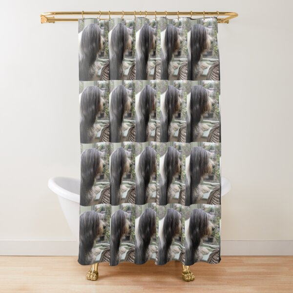 Bearded Collie - Did Somebody Say Walkies to this Beautiful Beardie?! Shower Curtain