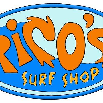 Ricos Surf Shop von ZVCHWILLIAMS