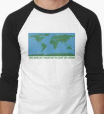 The World's Greatest Planet On Earth - ONE:Print Men's Baseball ¾ T-Shirt