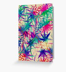 Tropical Jungle - a watercolor painting Greeting Card