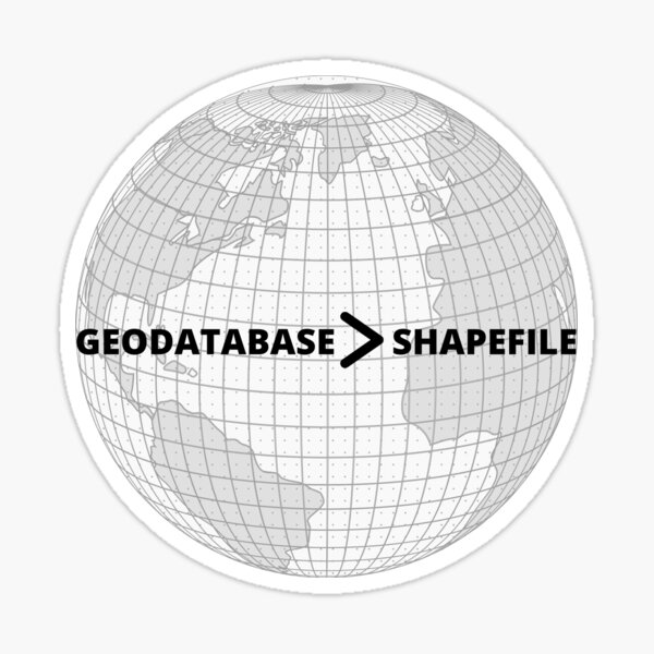 GEODATABASE > SHAPEFILE Sticker