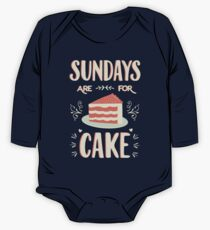 Sundays Are For Cake One Piece - Long Sleeve