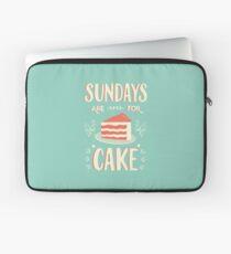 Sonntage sind für Kuchen Laptoptasche