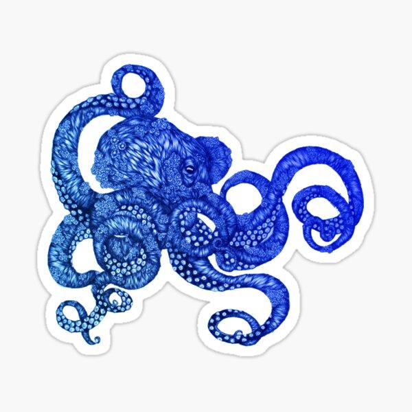 Ombre Octopus Sticker