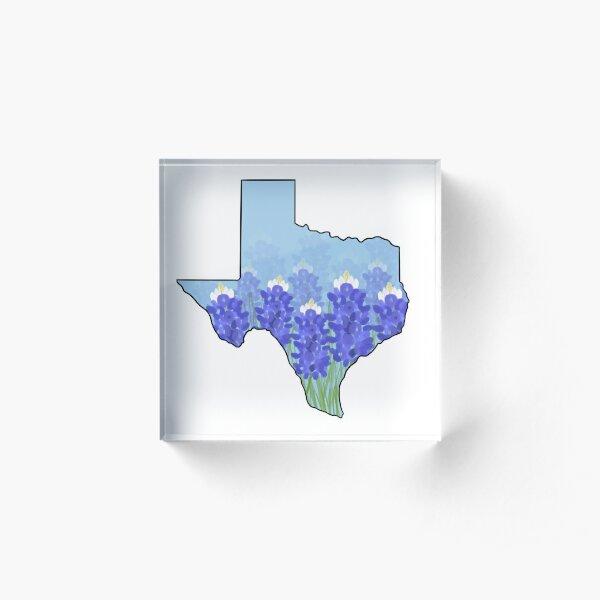 Texas Blue Bonnets Acrylic Block