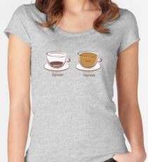 Espresso/Depresso Women's Fitted Scoop T-Shirt