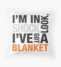 Sherlock blanket quote typography Throw Pillow