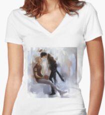 solangelo Women's Fitted V-Neck T-Shirt