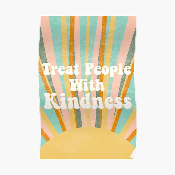 Treat People With Kindness Shirt, TPWK Print, Kindness Tshirt, Be Kind Sunrise Poster