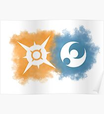 Pokemon Sun and Moon logos Poster