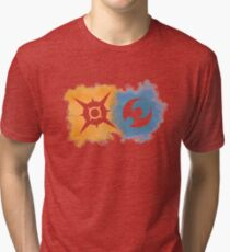 Pokemon Sun and Moon logos Tri-blend T-Shirt