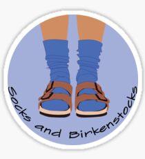 birks and socks Sticker