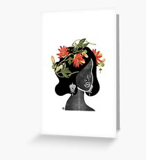 Wildflower Crown Silhouette Greeting Card