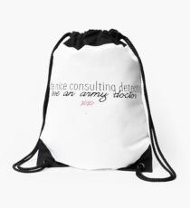 JOHNLOCK | All The Nice Consulting Detectives Love An Army Doctor Drawstring Bag