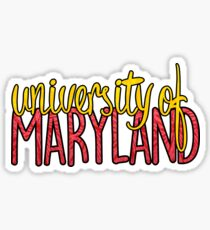 University of Maryland Two-tone Sticker