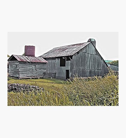 """""""Nostalgic Old Barn, the Back Side""""... prints and products Photographic Print"""
