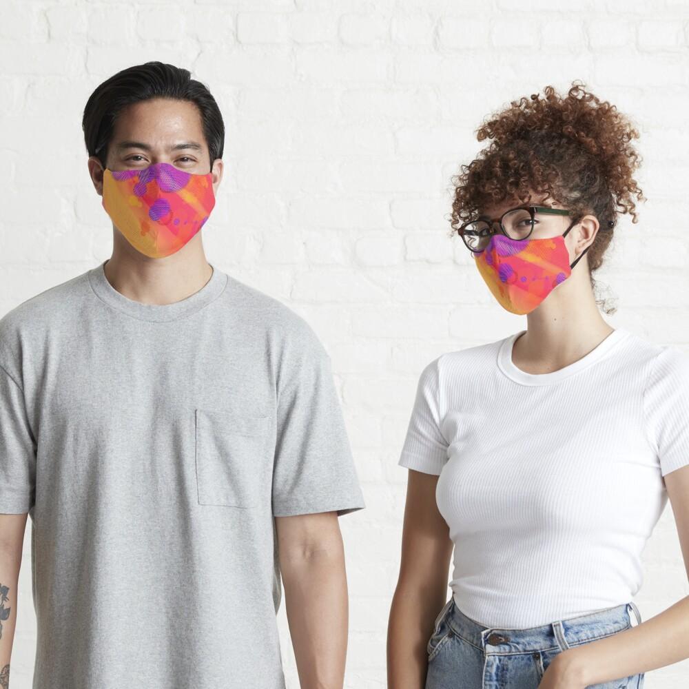 Purple Halftone Bubbles Mask