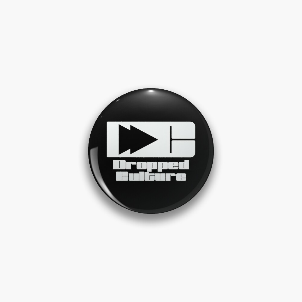 The Dropped Culture Podcast Original Logo Pin
