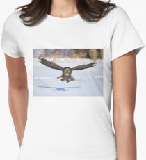 Great Grey Owl Women's Fitted T-Shirt