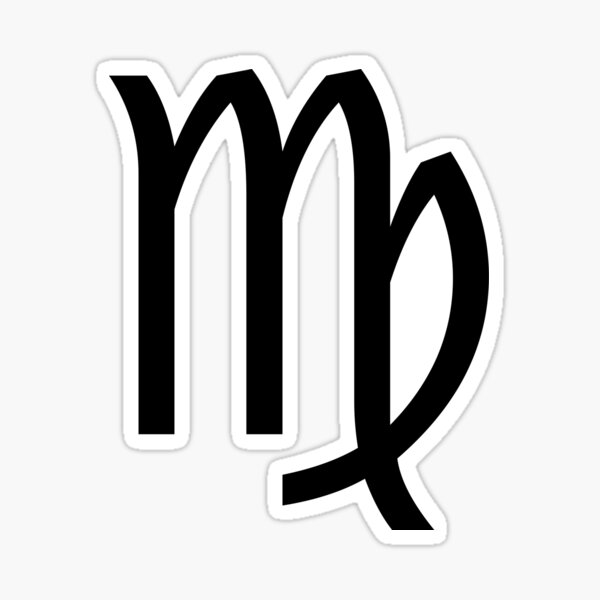 VIRGO SYMBOL Sticker