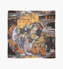 Egon Schiele Abstract Town Scarf