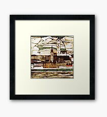 Egon Schiele Impressionistic Town Framed Print
