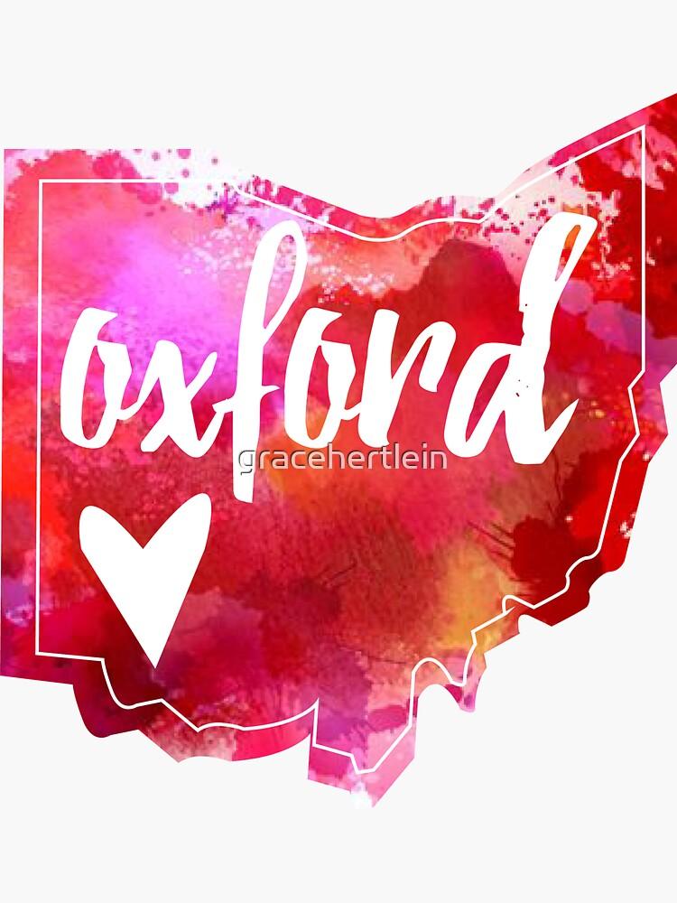 Oxford - Acuarela Corazón Ohio de gracehertlein