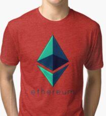 Ethereum metalic green  Tri-blend T-Shirt