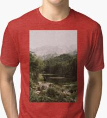 In Silence - Landscape Photography Tri-blend T-Shirt