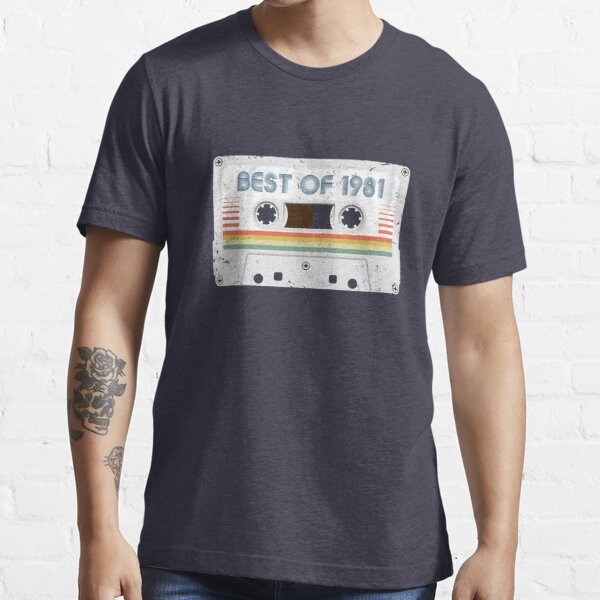 40th Birthday Best of 1981 Cassette Tape Vintage for Gift Essential T-Shirt