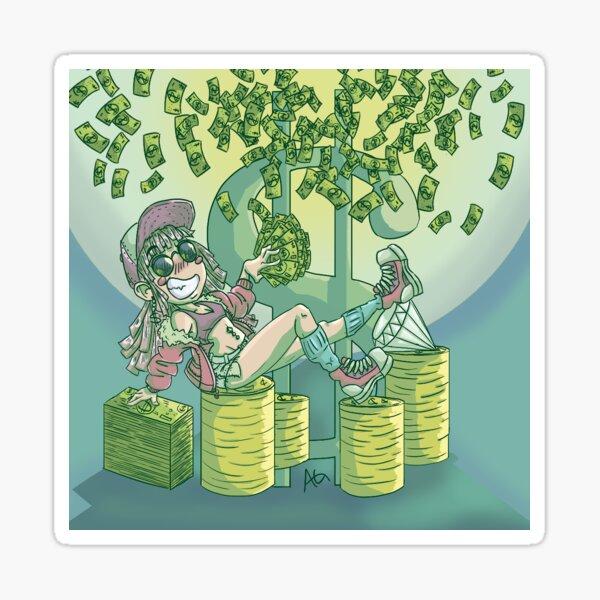Cash Money Sticker