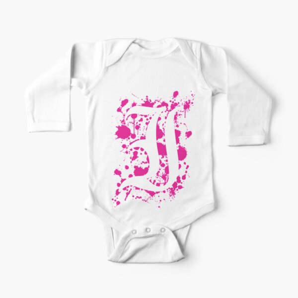 Negative Space 'I' Long Sleeve Baby One-Piece