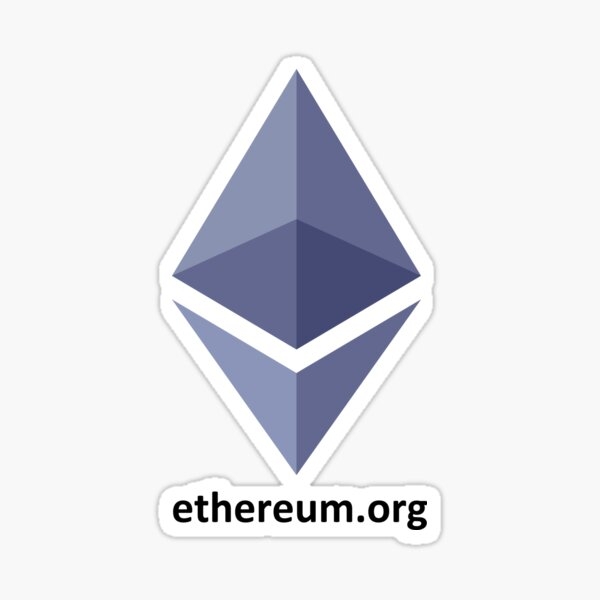 Ethereum Cryptocurrency Sticker Bundle 1 large 1 small
