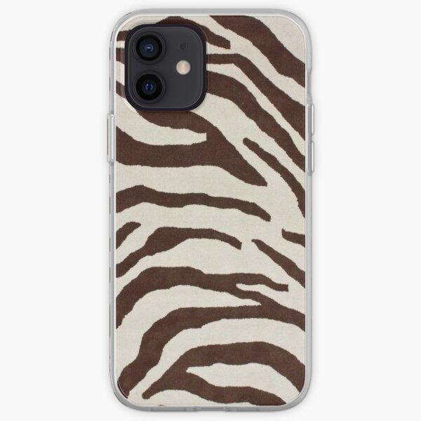 Coque de portable marron à imprimé zèbre Coque souple iPhone