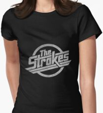 the stroke Womens Fitted T-Shirt