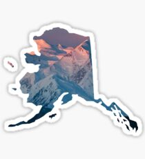 Alaska with Denali Sticker