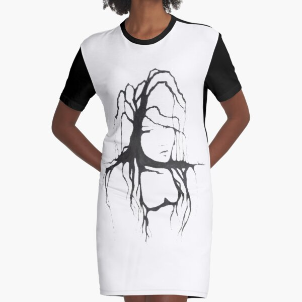 Willow Tree Graphic T-Shirt Dress