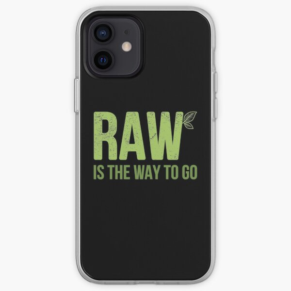 The Way to Go Raw Vegan graphic iPhone Soft Case