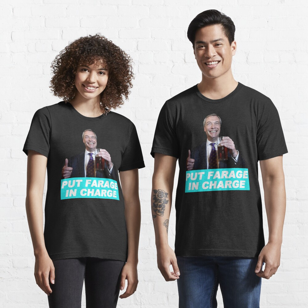 Fromage pas Farage t shirt politique Brexit design from old skool hooligans
