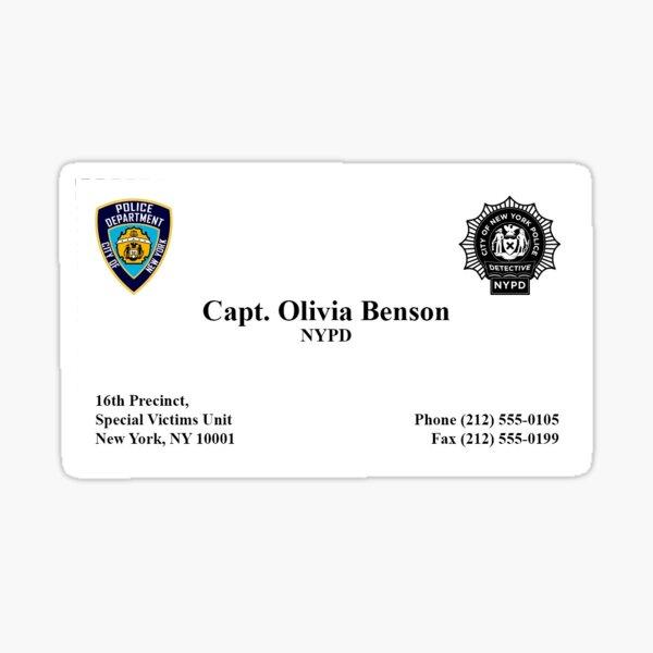 Captain Olivia Benson Sticker