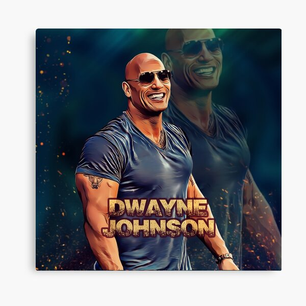 Dwayne Johnson Unstoppable Black White Motivation Quote Poster Glasses Signature