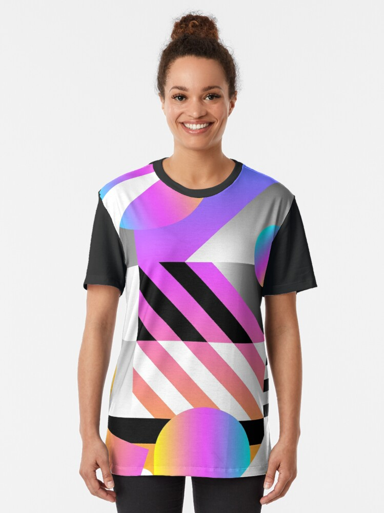 Alternate view of Abstract pattern Graphic T-Shirt