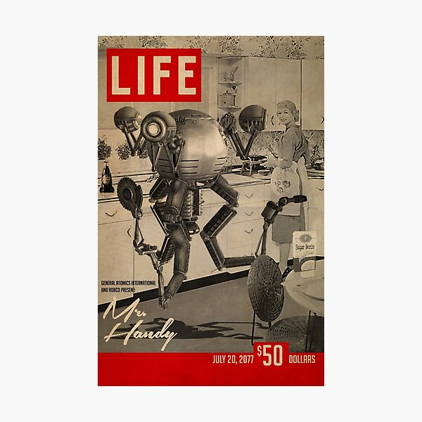 Fallout Mister Handy Life Magazine Cover Artwork  Photographic Print