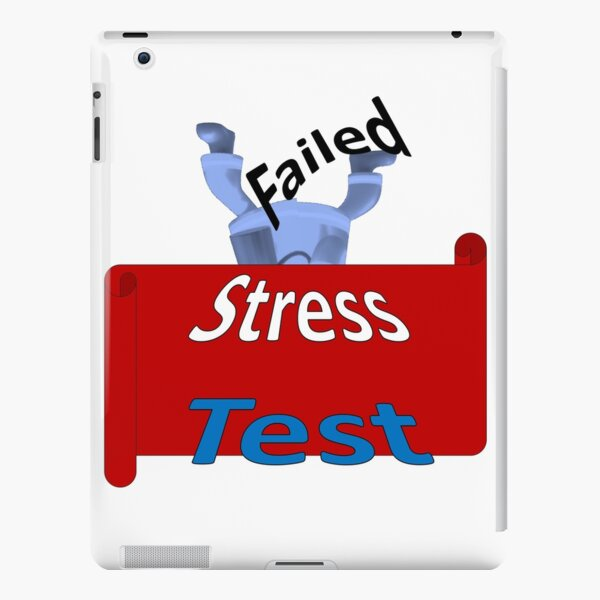 Funny Font says Failed Stress Test. Graphics in cartoon style iPad Snap Case