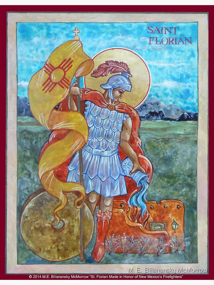 St. Florian Icon - Patron Saint of Firefighters. by grounddogs