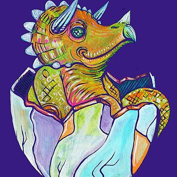 Baby Triceratops by brianbarnardart