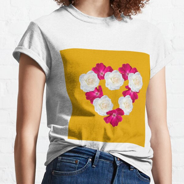 Rose Heart Goldenrod Classic T-Shirt