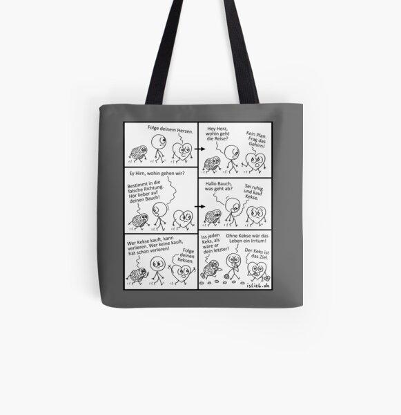 Ziel - islieb-Comic Allover-Print Tote Bag