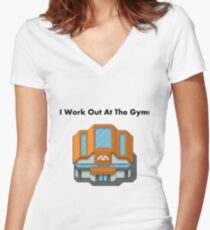 Pokemon Gym Women's Fitted V-Neck T-Shirt